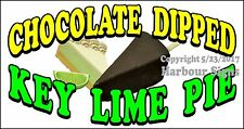 (Choose Your Size) Key Lime Pie Chocolate Dipped DECAL Food Truck Concession