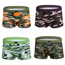 Mens Sexy Camo Camouflage Lingerie Trunk Boxer Briefs Shorts Underwear Underpant