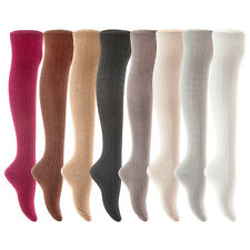 Lian LifeStyle Women' 1 Pair Over Knee High Thigh High Cotton Boot Socks 6-10