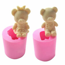 3D Bear Boy Girl Silicone Soap Molds Chocolate Candy Cake Mold Clay Baking Tool