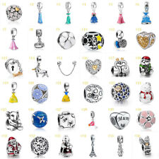 European Silver CZ Fashion Charm Beads Pendant Fit 925 Sterling Bracelet Chain