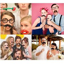 Christmas Photo Booth Props Mustache On A Stick Party Photography Wedding UK