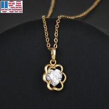 Lady Girl fashion jewelry and beautiful flower gold plated pendant necklace