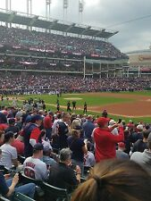 2 CLEVELAND INDIANS TICKETS 9/27 TWINS LOWER BOX AISLE SECTION 134