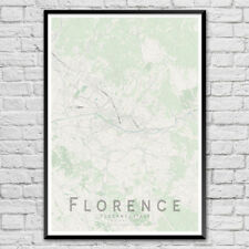 FLORENCE Map Print, Italy Street Map Wall Art Poster A3 A2