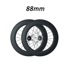 88mm Depth Clincher Road Bike Racing Carbon Wheels Track fixed gear Single Speed
