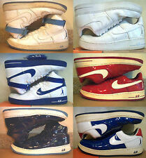 RARE! NIKE! AIR FORCE SHEED WHITE RED BLUE BLUEJAY HIGH TOP LOW CUT SIZE 12 13 !