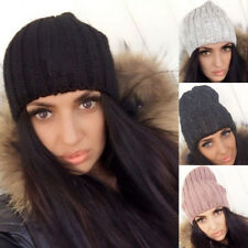 US Unisex Women Men Knit Winter Warm Ski Crochet Slouch Hat Cap Beanie Oversized