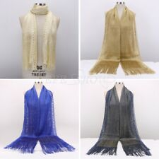 Women Girls Sheer Glitter Shawls Wraps Scarfs For Party Wedding Evening Dresses