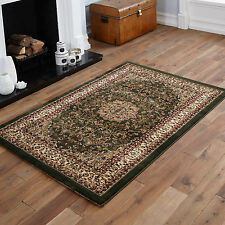 QUALITY CLEARANCE RUG SMALL 80x150cm TRADITIONAL RUG CLASSIC GREEN RUG FOR SALE