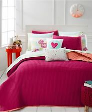 Martha Stewart Collection Whim Turnabout Lipstick Pink/Orange Reversible Quilt