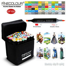 FINECOLOUR Borad Brush Sketch Marker Pen Artists Design 36/48/60/72 Colors Set