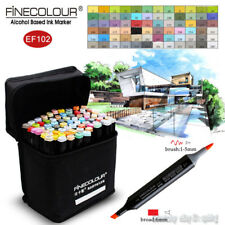 FINECOLOUR Brush Sketch Marker Pen Architectural Design 36/48/60/72 Colors Set