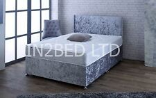 4FT SMALL DOUBLE Deep Quilt Divan Bed And Mattress Headboard Storage BED