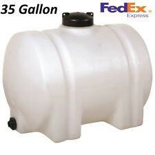 4 SIZES Gallon Horizontal Platic Water Tank Bulkhead Storage Container Norwesco