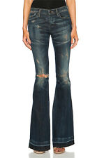 NWT Citizens of Humanity 'Vintage' Charlie Super Flare Distressed Blue Jeans -25