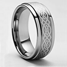 Size 4-18 Mens Celtic Tungsten Carbide Engagement Ring Wedding Band