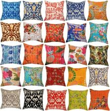 Indian Kantha Cushion Cover 16x16 Decorative Throw Pillow Case Home Decor Pillow