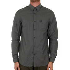 Fred Perry Micro Gingham Shirt - Black