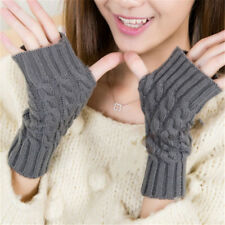 Hand Warmer Winter Gloves Women Arm Crochet Knitting Mitten Fingerless Gloves