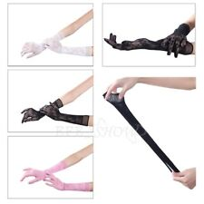 Women Lady Lace Gloves Wedding Bridal Party Evening Full Finger Hand Wrap Mitten