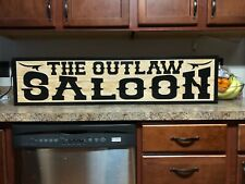 Old West Saloon Brew House Sign Man Cave Sign Rustic Bar Sign Father's Day Gift