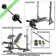 Gold Gym XR 10.1, XRS 20 Olympic Bench Press Weight Lifting FID or 110LB Weights