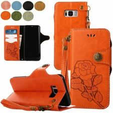 Strap Leather Flip Wallet Stand Leather Case Cover For Samsung Galaxy Note phone