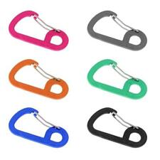 2x Aluminum Carabiner D-Ring Key Chain Keychain Clip Hook Outdoor Buckle