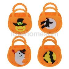 3pcs HALLOWEEN Ghost Pumpkin Candy Bags Kids Treat Trick Party Tote bags Basket