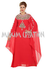 EXCLUSIVE MOROCCAN FANTASY WEDDING GOWN PARTY WEAR HAND EMBROIDERY DRESS 6391