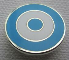 MOD TARGET BADGE - MANCHESTER CITY - COVENTRY - LAZIO COLOURS 12 16 OR 20MM DIA