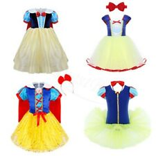 White Princess Cosplay Party Costume Halloween Xmas Fairytale Baby Fancy Dresses