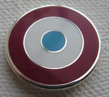 MOD TARGET BADGE - WEST HAM ICF BURNLEY ASTON VILLA COLOURS 12 16 OR 20MM DIA