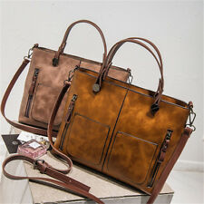 Fashion Women Leather Handbag Tote Retro Messenger Bag Shoulder Purse Satchel
