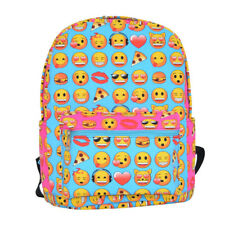 Kids Cute Cartoon Emoji Face School Backpack Student Bookbag Travel Handbag Bag