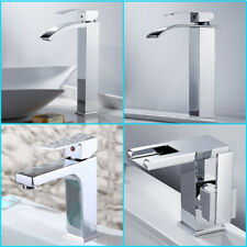 Bathroom Faucet Glass Waterfall One Hole/Handle Basin Mixer Tap Chrome bath Sink