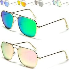 AVIATOR SUNGLASSES NEW MENS LADIES BLACK POLARIZED FLAT LENS DRIVING SMALL