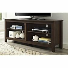 TV Console Stand Media Storage Entertainment Center Wood Screen Cabinet Brown