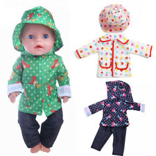 For 43cm Zapf Baby Born Doll Raincoat Clothes Suit Outfit American Girl Handmade