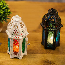 Moroccan Style Glass Lantern Vintage Tea Light Candle Holder Wedding Home Decor