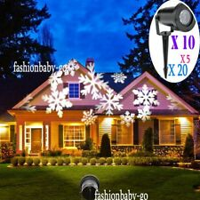 LOT Halloween Decora Xmas Projection Led Lights Snowflake Spotlight LASER 20X EK