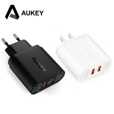 AUKEY 2 Ports Quick Charger USB Smart Wall Charge Adaptive With Micro Usb Cable