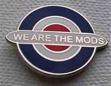 SCOOTER MOD BADGE - WE ARE THE MODS - 16MM OR 20MM DIA