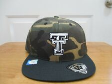 Brand New w/Tag Texas Tech Red Raiders Camo Color Fitted Hat Sizes 7 1/4 & 7 3/8