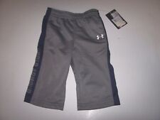 NEW Under Armour elastic waist track pants boys 3 mo 6 month silver gray pull on