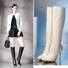 Chic Stiletto Heel Women Pointy Toe Stiletto Zip Knee High Boot New Party Shoe