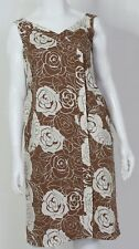 RODNEY CLARK Size 14 Women's Brown & Beige Linen Cotton Summer Dress Party