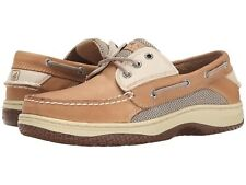 NEW Mens SPERRY TOP-SIDER Tan/Beige Leather BILLFISH 3-EYE Lace Boat Shoes
