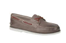 NEW Mens SPERRY TOP-SIDER Grey GOLD CUP A/O AUTHENTIC ORIGINAL 2-Eye Boat Shoes